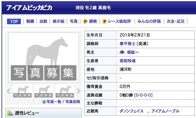 【悲報】ヅラ疑惑の堀紘一オーナー愛馬に「アイアムピッカピカ」という名をつけてしまう